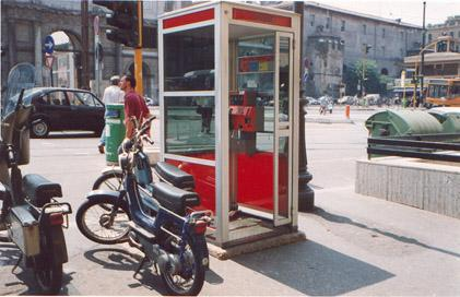 "Piazzale Flaminio - takes 3 coins, pre-paid cards, and magnetic calling cards</BR></BR><span class=""date-display-single"" property=""dc:date"" datatype=""xsd:dateTime"" content=""1992-06-01T00:00:00+00:00"">Jun 01, 1992</span>"