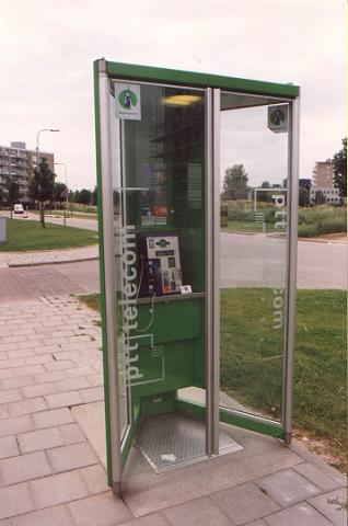 "Typical Dutch telephone booth.</BR></BR><span class=""date-display-single"" property=""dc:date"" datatype=""xsd:dateTime"" content=""1997-08-12T00:00:00+00:00"">Aug 12, 1997</span>"