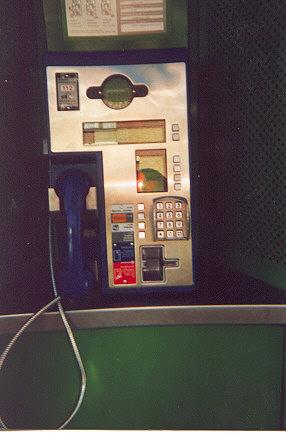 "Notice no slot for the money.  The phones use a prepaid chipcard or a creditcard.  All their phone are the same.  They are suspiciously modern for a farm in the middle of nowhere.</BR>Sent in by: Traveling Reader</BR><span class=""date-display-single"" property=""dc:date"" datatype=""xsd:dateTime"" content=""1998-08-25T00:00:00+00:00"">Aug 25, 1998</span>"