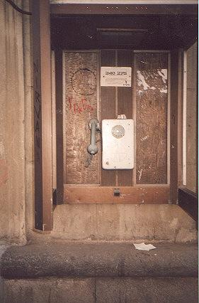 "Jighly advanced technology from the former Soviet Union.  The payphones only accept one ruble coins, an obsolete denomination.</BR></BR><span class=""date-display-single"" property=""dc:date"" datatype=""xsd:dateTime"" content=""1994-10-18T00:00:00+00:00"">Oct 18, 1994</span>"