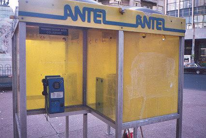 "Antel is the state owned phone company.  These phones work on token, so there is always someone selling them nearby.  They do have a special feature: see the black button on the right?  You can call a person and if you receive an anwsering machine</BR>Sent in by: 0</BR><span class=""date-display-single"" property=""dc:date"" datatype=""xsd:dateTime"" content=""2017-01-22T00:00:00+00:00"">Jan 22, 2017</span>"
